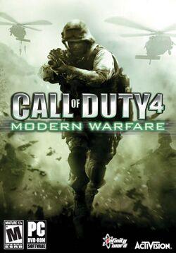 Box artwork for Call of Duty 4: Modern Warfare.