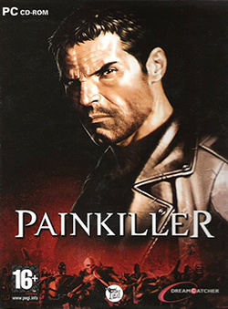 Box artwork for Painkiller.