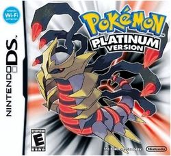 Box artwork for Pokémon Platinum.