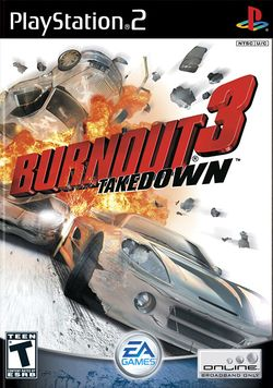 Box artwork for Burnout 3: Takedown.