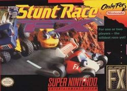 Box artwork for Stunt Race FX.