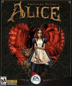 Box artwork for American McGee's Alice.