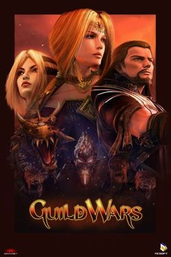 Box artwork for Guild Wars.