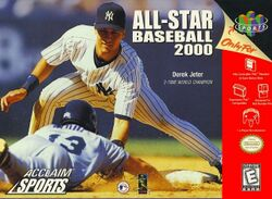 Box artwork for All-Star Baseball 2000.