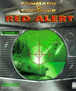 Box artwork for Command & Conquer: Red Alert.