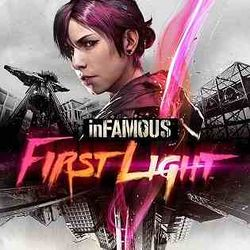 Box artwork for InFAMOUS: First Light.