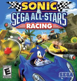 Box artwork for Sonic & Sega All-Stars Racing.