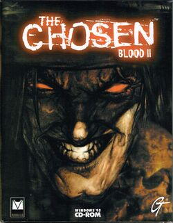 Box artwork for Blood II: The Chosen.