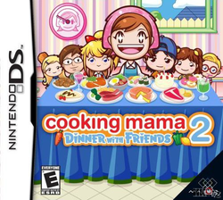 Box artwork for Cooking Mama 2: Dinner with Friends.