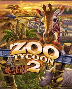Box artwork for Zoo Tycoon 2: African Adventure.