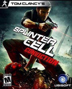 Box artwork for Tom Clancy's Splinter Cell: Conviction.