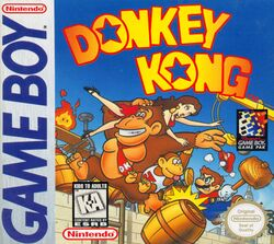 Box artwork for Donkey Kong (Game Boy).