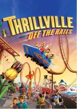 Box artwork for Thrillville: Off the Rails.