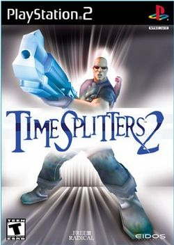 Box artwork for TimeSplitters 2.