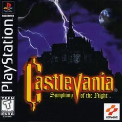 Box artwork for Castlevania: Symphony of the Night.