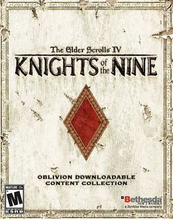 Box artwork for The Elder Scrolls IV: Knights of the Nine.