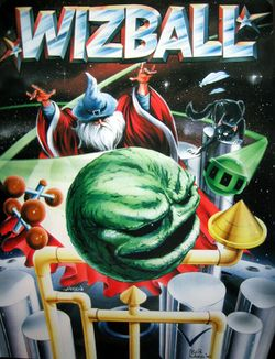 Box artwork for Wizball.