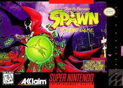 Box artwork for Todd McFarlane's Spawn: The Video Game.