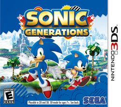 Box artwork for Sonic Generations (Nintendo 3DS).
