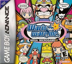 Box artwork for WarioWare, Inc.: Mega Microgame$!.