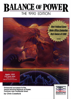Box artwork for Balance of Power: The 1990 Edition.