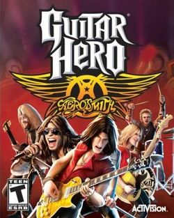Box artwork for Guitar Hero: Aerosmith.