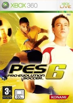 Box artwork for Pro Evolution Soccer 6.