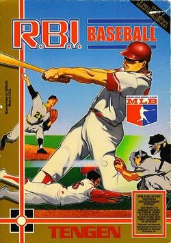 Box artwork for R.B.I. Baseball.