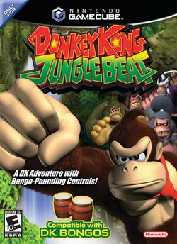 Box artwork for Donkey Kong Jungle Beat.