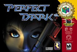 Box artwork for Perfect Dark.