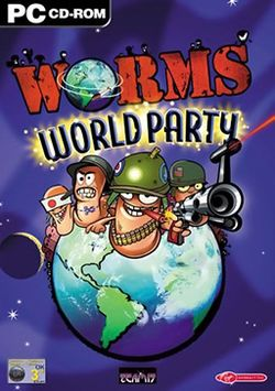 Box artwork for Worms World Party.