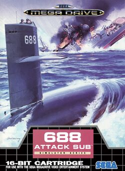 Box artwork for 688 Attack Sub.