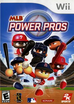 Box artwork for MLB Power Pros.