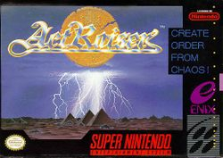 Box artwork for ActRaiser.
