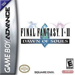 Box artwork for Final Fantasy 1 & 2: Dawn of Souls.