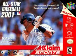 Box artwork for All-Star Baseball 2001.