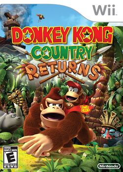Box artwork for Donkey Kong Country Returns.