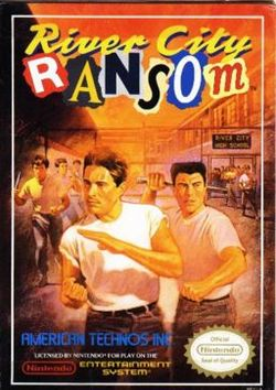 Box artwork for River City Ransom.
