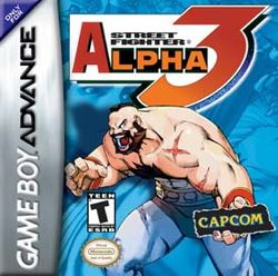 Box artwork for Street Fighter Alpha 3.