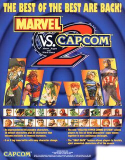 Box artwork for Marvel vs. Capcom 2.