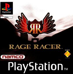 Box artwork for Rage Racer.