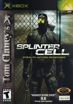 Box artwork for Tom Clancy's Splinter Cell.
