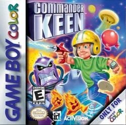 Box artwork for Commander Keen (Game Boy Color).