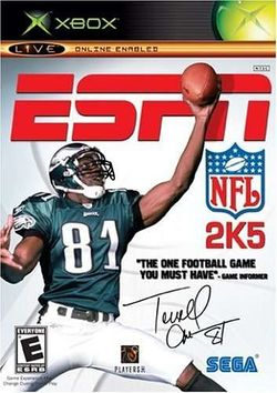 Box artwork for ESPN NFL 2K5.