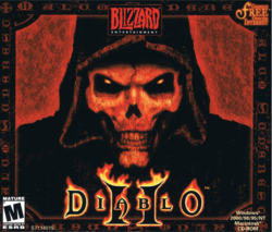 Box artwork for Diablo II.