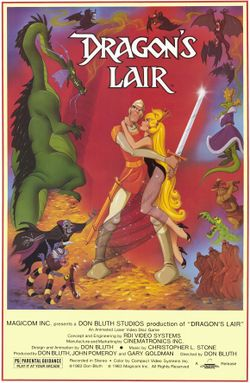 Box artwork for Dragon's Lair.