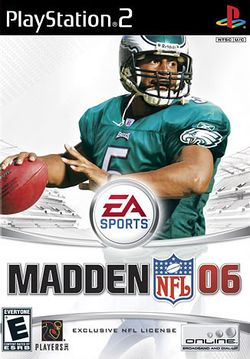 Box artwork for Madden NFL 06.