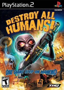 Box artwork for Destroy All Humans!.