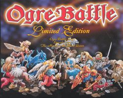 Box artwork for Ogre Battle: The March of the Black Queen.