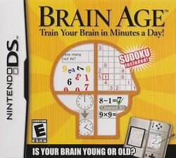 Box artwork for Brain Age.